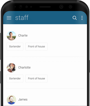 Findmyshift app running on Android